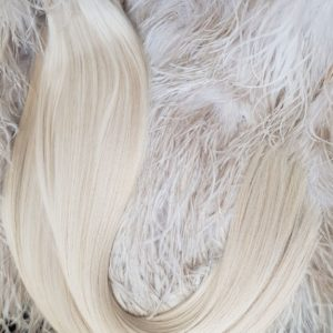 "WEFTS HAIR "" 110G ASH BLONDE #60A WHITE BLONDE"