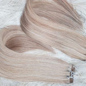 WEFT HAIR MIX TONE BLONDE