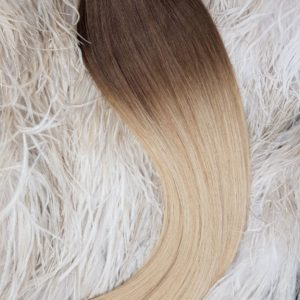 "WEFTS HAIR"" 110G #4/18 Root Fade"