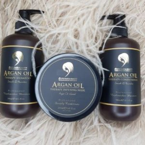DELUXE PACKAGE! ARGAN OIL THERAPY SHAMPOO CONDITIONER MASK